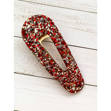 Load image into Gallery viewer, Be Mine Glitter Clips - Oval Point - Clip