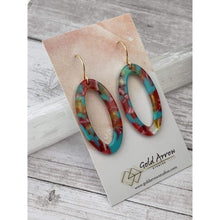 Load image into Gallery viewer, Bermuda Dangle Earrings - Gold Arrow Studios