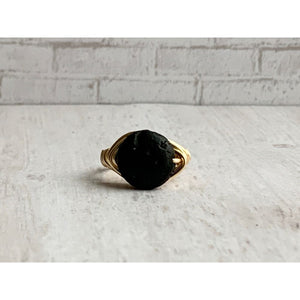 Black Lava Diffuser Ring - Gold Arrow Studios