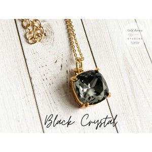 Boho Crystal Layering Necklaces - Black Crystal - Necklace
