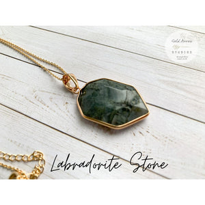 Boho Crystal Layering Necklaces - Labradorite - Necklace