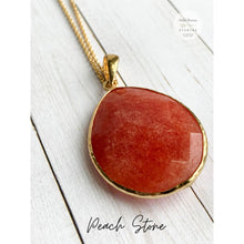 Load image into Gallery viewer, Boho Crystal Layering Necklaces - Peach Stone - Necklace