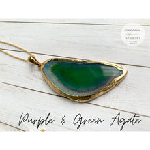 Load image into Gallery viewer, Boho Crystal Layering Necklaces - Purple & Green Agate - Necklace