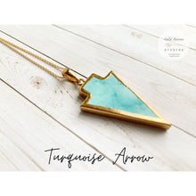 Load image into Gallery viewer, Boho Crystal Layering Necklaces - Turquoise Arrow - Necklace