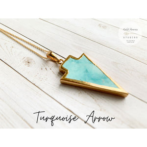 Boho Crystal Layering Necklaces - Turquoise Arrow - Necklace