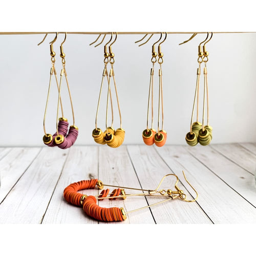Boho Fall Dangle Earrings - Gold Arrow Studios