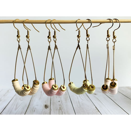 Boho Pastel Dangle Earrings - Gold Arrow Studios