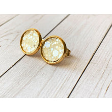 Load image into Gallery viewer, Boho Pink Textured Studs - Stud Earrings