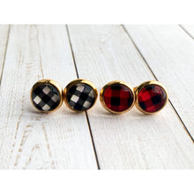 Load image into Gallery viewer, Buffalo Plaid Studs - Stud Earrings