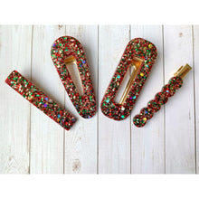 Load image into Gallery viewer, Christmas Eve Glitter Clips - Clip