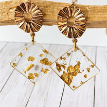Load image into Gallery viewer, Flecked Gold Dangle - Dangle Earrings