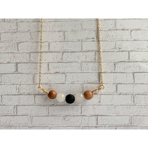 Full Moon Diffuser Necklace - Gold Arrow Studios