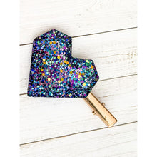 Load image into Gallery viewer, Galaxy Ooze Glitter Clips - Heart - Clip