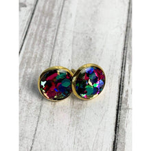 Load image into Gallery viewer, Glitter Party Stud Earrings - Gold Arrow Studios