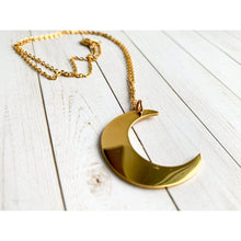 Load image into Gallery viewer, Gold Moon Pendant Necklace - Necklace