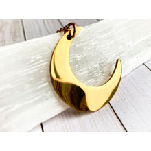 Load image into Gallery viewer, Gold Moon Pendant Necklace - Gold Arrow Studios
