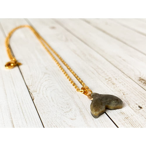 Labradorite Mermaid/Whale Tail Necklace - Necklace
