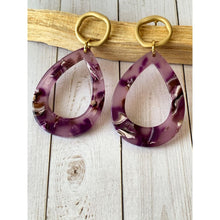 Load image into Gallery viewer, Lavender Tears Dangle - Dangle Earrings