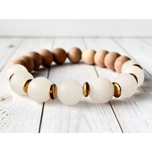 Love Essential Oil Bracelet - Gold Arrow Studios