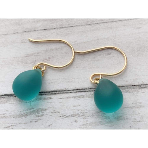 Mermaid Tears Drop Earrings - Gold Arrow Studios
