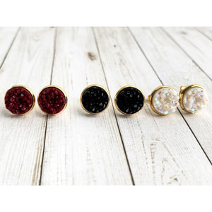 Merry and Bright Druzy Studs - Stud Earrings