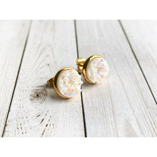 Load image into Gallery viewer, Merry and Bright Druzy Studs - Stud Earrings