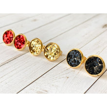 Load image into Gallery viewer, Merry & Bright Textured Studs - Stud Earrings
