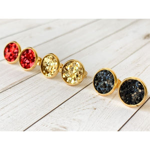 Merry & Bright Textured Studs - Stud Earrings