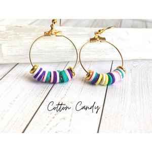 Multi Color Dangle Earrings - Cotton Candy - Dangle Earrings
