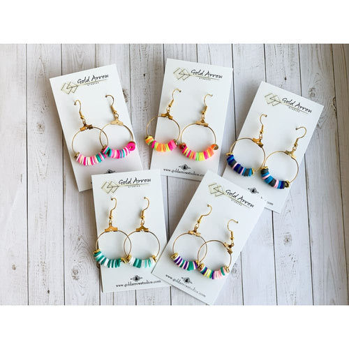 Multi Color Dangle Earrings - Dangle Earrings
