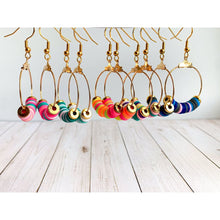 Load image into Gallery viewer, Multi Color Dangle Earrings - Dangle Earrings
