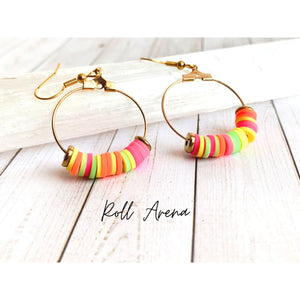 Multi Color Dangle Earrings - Roll Arena - Dangle Earrings