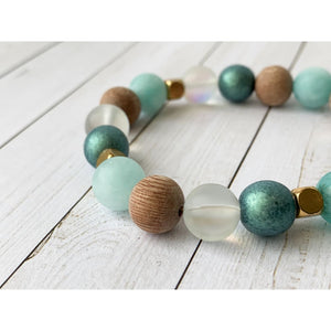 Mystic Waters Diffuser Bracelet - Gold Arrow Studios
