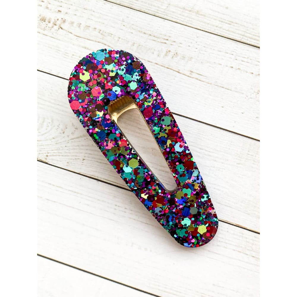 Party Smash Glitter Clips - Oval Point - Clip