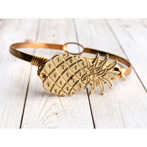 Pineapple Gold Bangle - Gold Arrow Studios