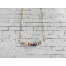 Load image into Gallery viewer, Pink Opal Diffuser Necklace - Gold Arrow Studios