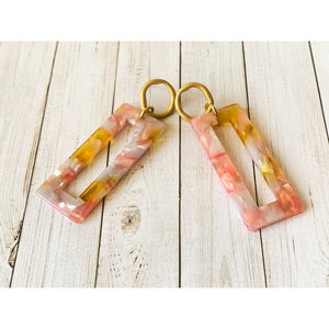 Pink Shell Dangle - Dangle Earrings