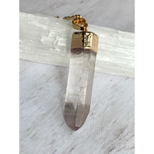 Load image into Gallery viewer, Quartz Point Stone Necklace - Gold Arrow Studios