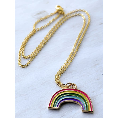 Rainbow Necklace - Gold Arrow Studios