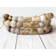Load image into Gallery viewer, Samatha Stone Bracelet - Gold Arrow Studios