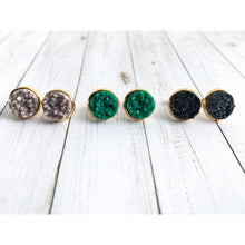 Load image into Gallery viewer, Smokey Mountains Druzy Stud - Stud Earrings