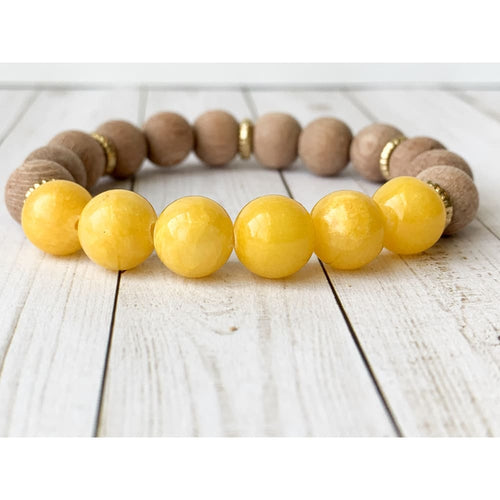 Summer Sun Diffuser Bracelet - Gold Arrow Studios