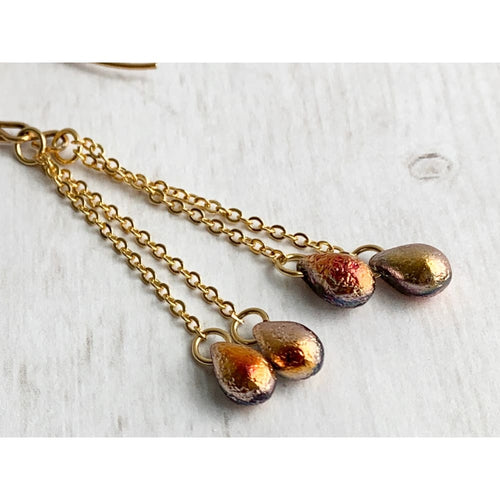Sunset Dangle Earrings - Gold Arrow Studios