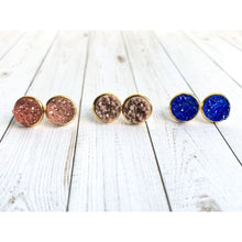 Load image into Gallery viewer, Sunset Druzy Stud - Stud Earrings