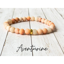 Load image into Gallery viewer, Tiny Gemstone Bracelets - Aventurine - Bracelet