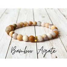 Load image into Gallery viewer, Tiny Gemstone Bracelets - Bamboo Agate - Bracelet