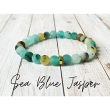 Load image into Gallery viewer, Tiny Gemstone Bracelets - Sea Blue Jasper - Bracelet