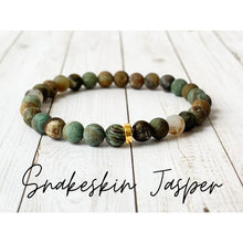 Load image into Gallery viewer, Tiny Gemstone Bracelets - Snakeskin Jasper - Bracelet
