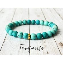 Load image into Gallery viewer, Tiny Gemstone Bracelets - Turquoise - Bracelet