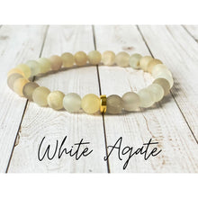 Load image into Gallery viewer, Tiny Gemstone Bracelets - White Agate - Bracelet